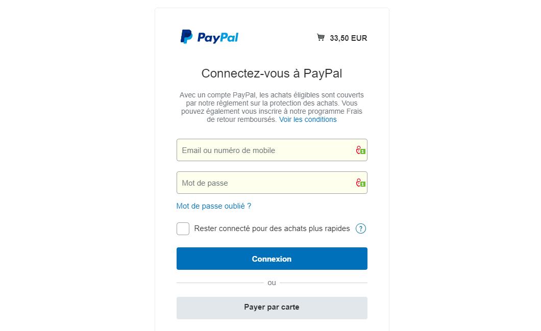 Beauté Santé Shop : modalité pour paiement par carte bleue